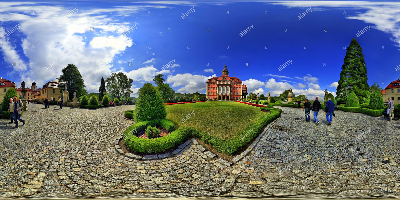 Książ Castle - East Side - Stock Image