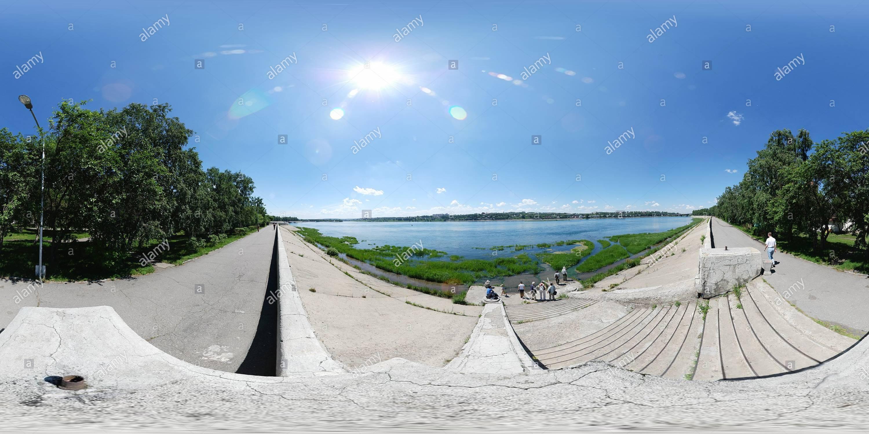 앙가라 강변 - Stock Image