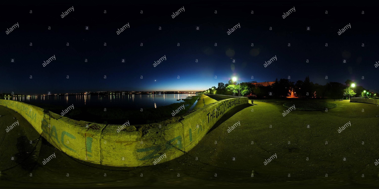 앙가라강변 야경 - Stock Image