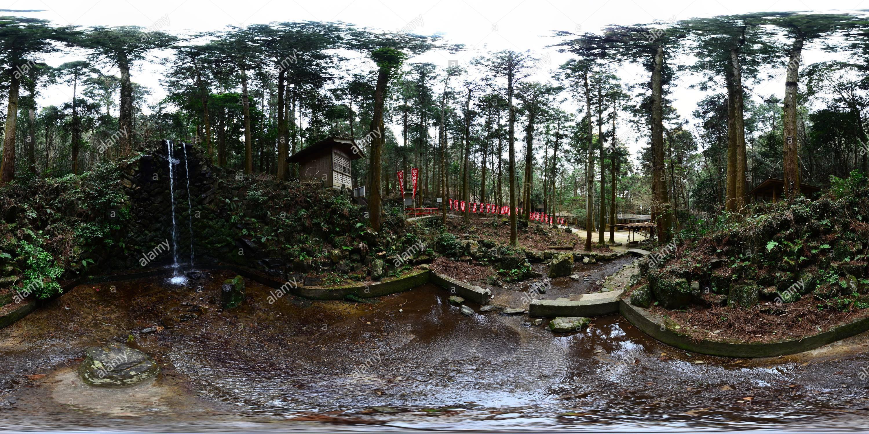 FudougaTaki Camp Place 不動ヶ滝キャンプ場 - Stock Image