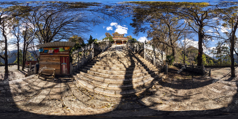 Pao Ma Mt Ji Xiang Temple(康定跑馬山吉祥禪寺), Kangding, Ganzi, Sichuan, CN. - Stock Image