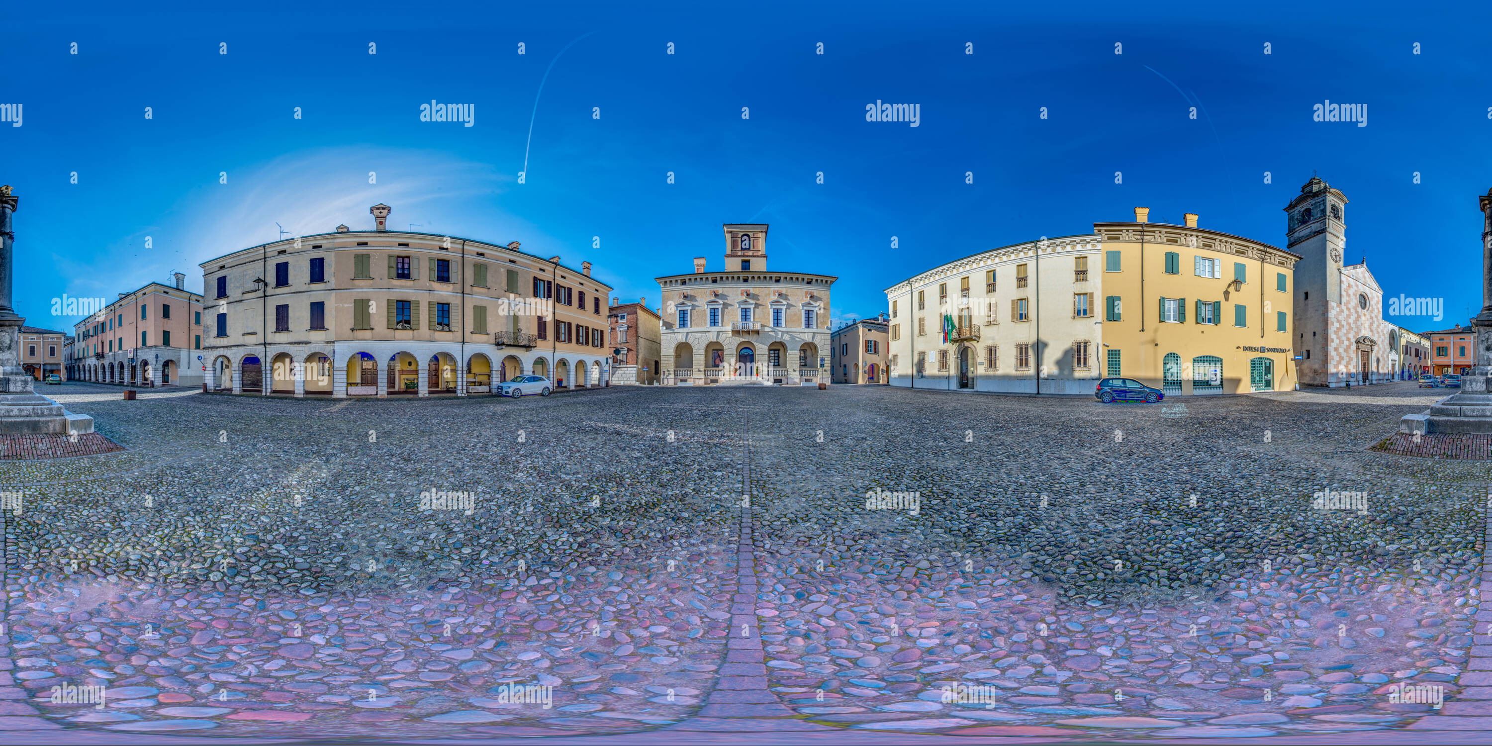 Piazza Ducale, Sabbioneta (MN) Italy - Stock Image