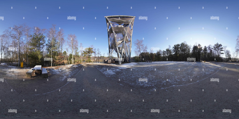 Lommel, uitkijktoren - Stock Image