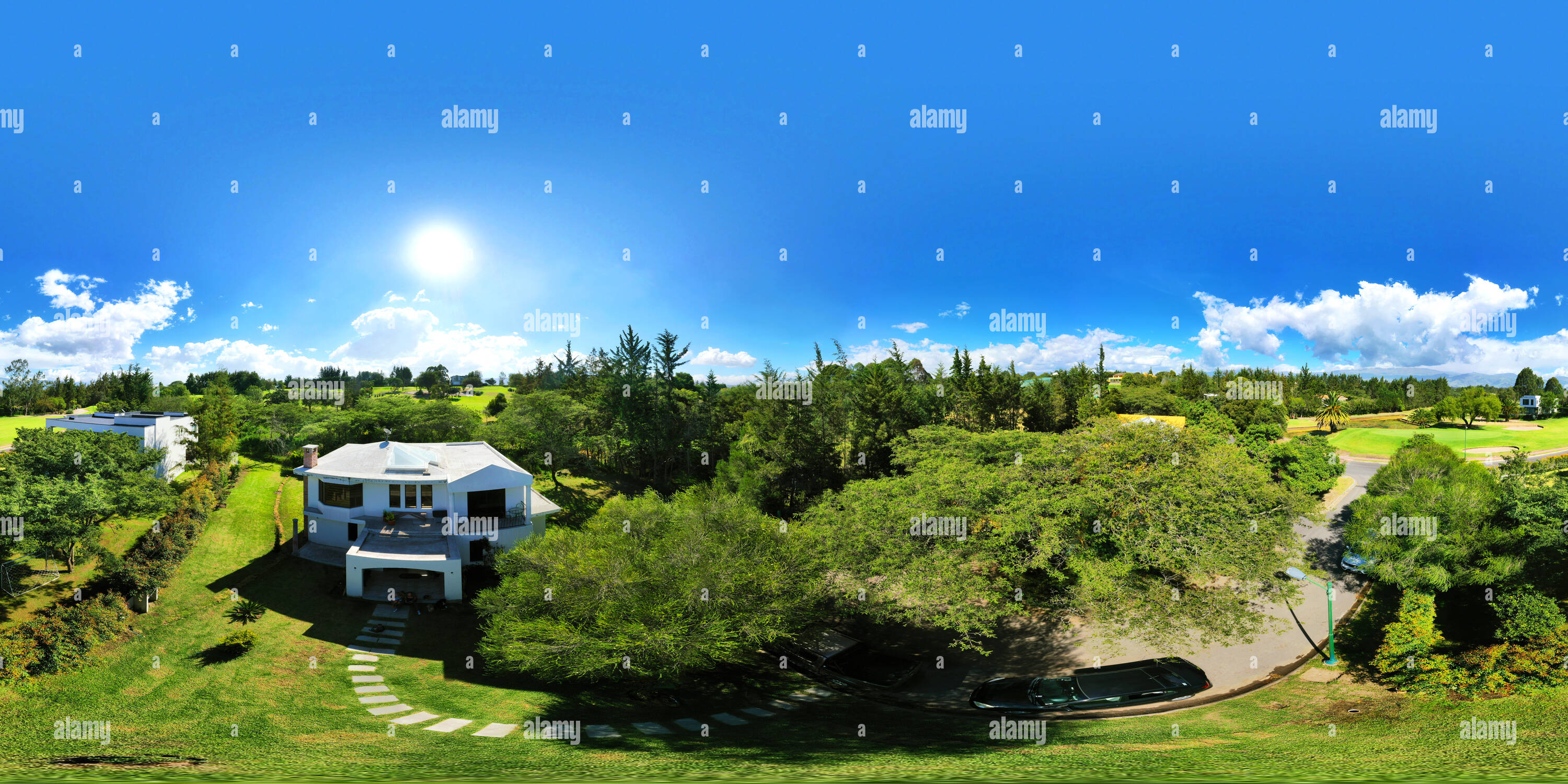 Arrayanes Country Club - Aerial Panoramic view 1 - Stock Image