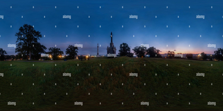 Orchard Knob at sunrise. - Stock Image