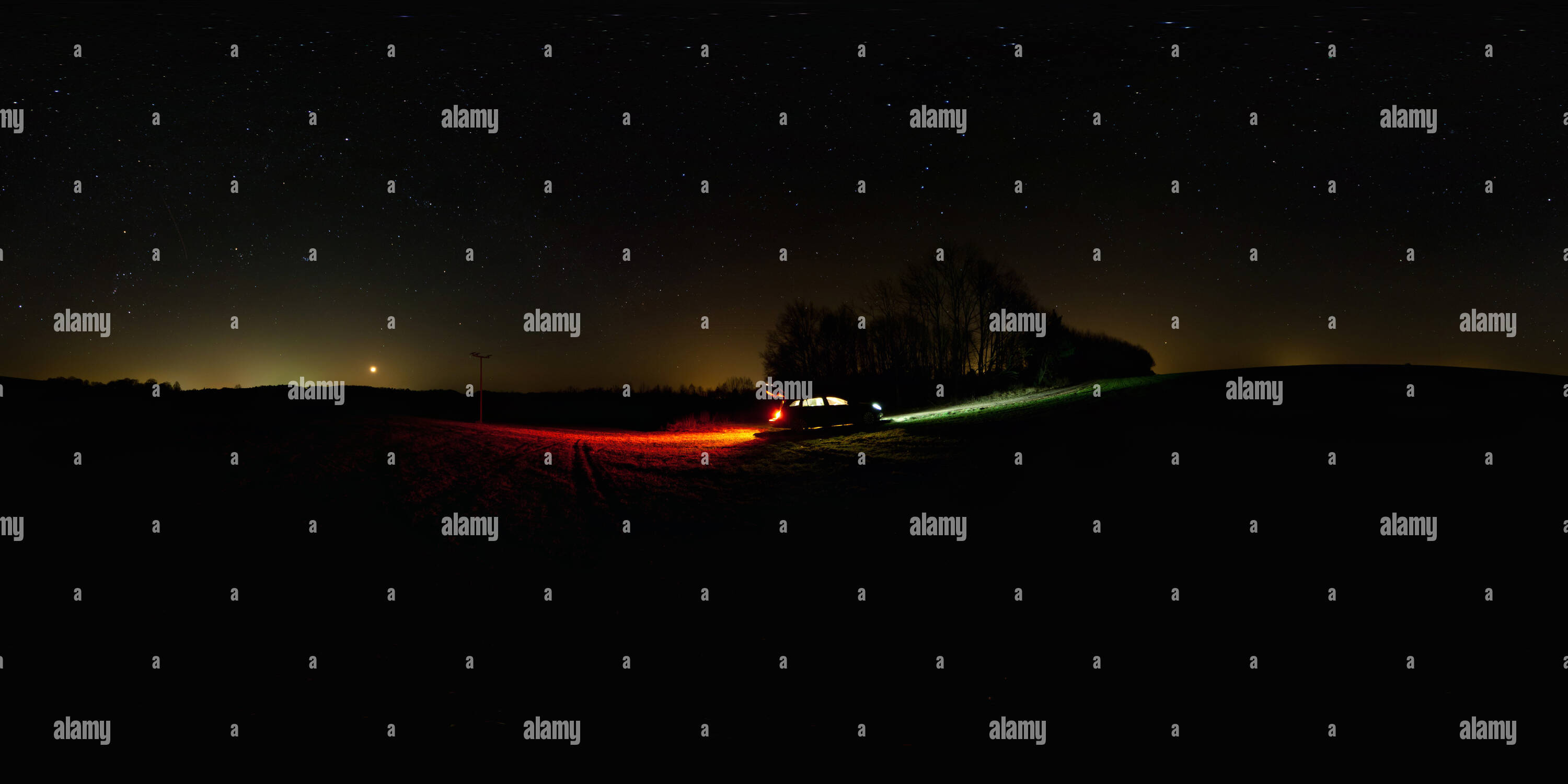 Nightsky in March - Stock Image