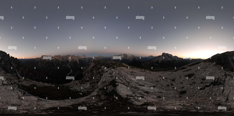 Dolomiten After Sunset - Stock Image
