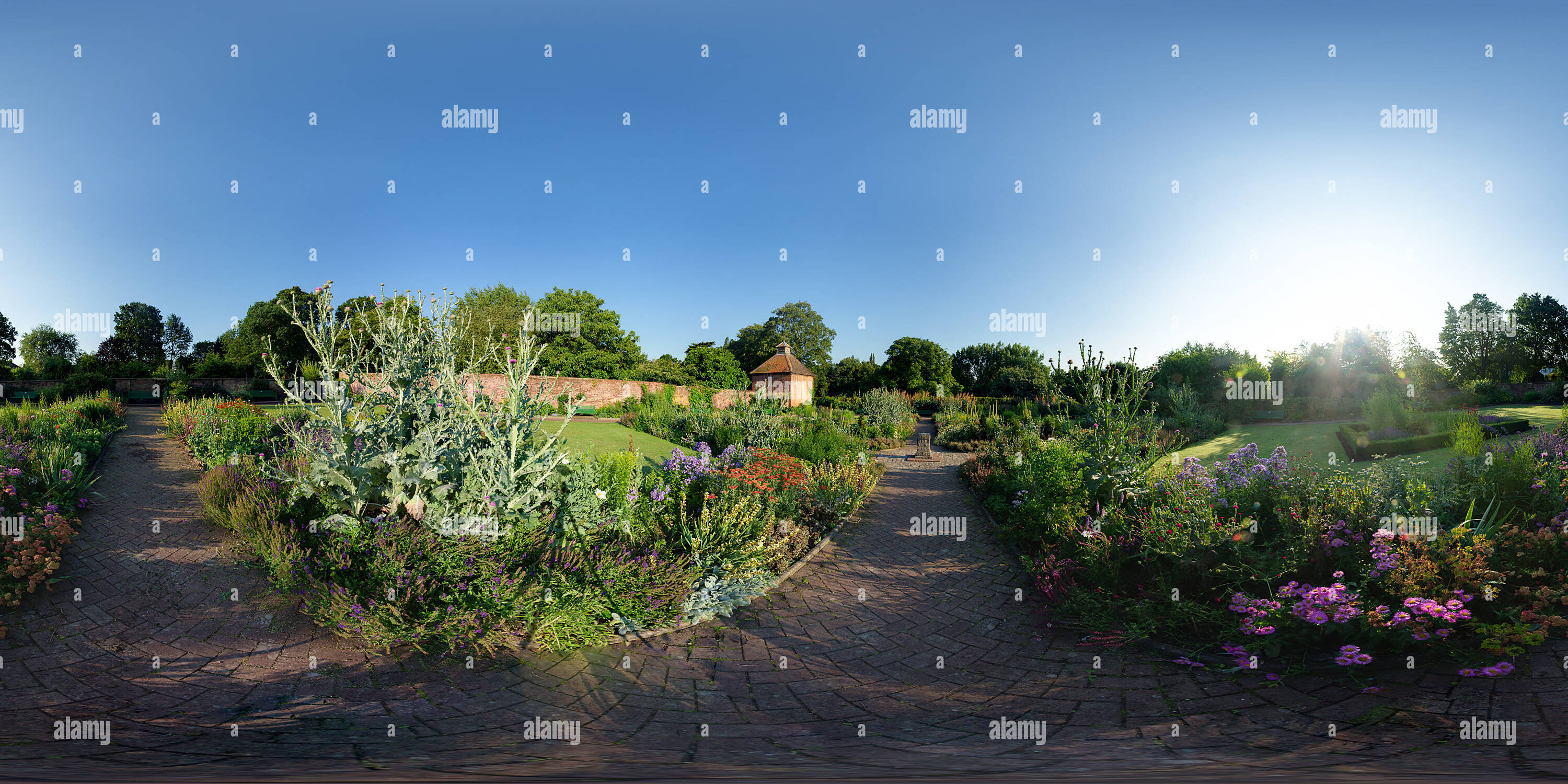 Walled garden of Eastcote House - Stock Image
