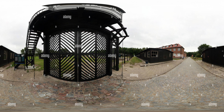 Death gate - Stutthof nazi concentration camp - Stock Image