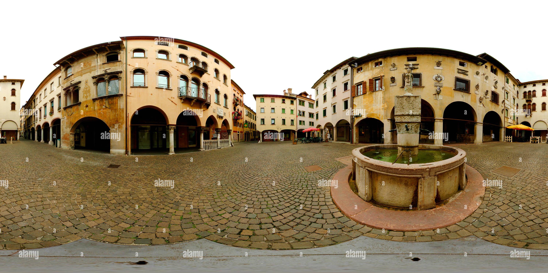 Belluno, Piazza Mercato, Veneto, Italy - Stock Image