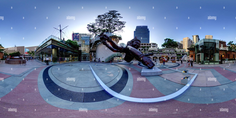 360 Grad Panorama Ansicht von 1881 Kulturerbe mit Drei Köpfen sechs Arme (Zhang Huan)