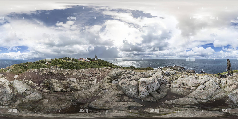 360 Grad Panorama Ansicht von Kullens Fyrtorn