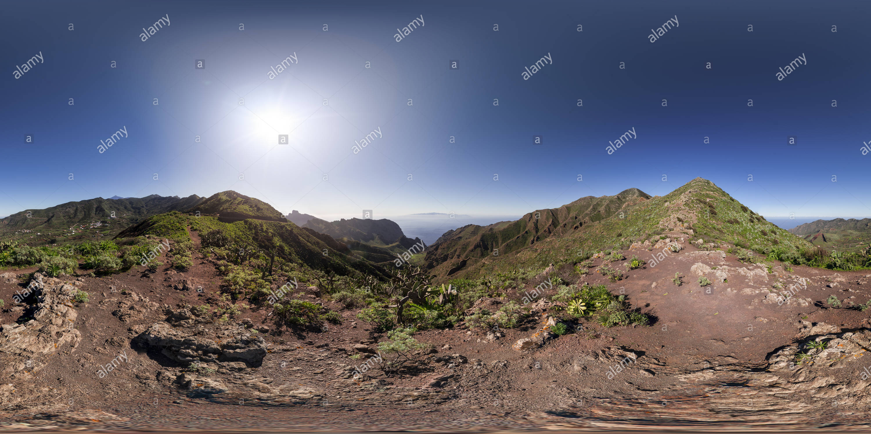 Teno Gebirge, Teneriffa, Kanarische Inseln, Spanien Stockbild