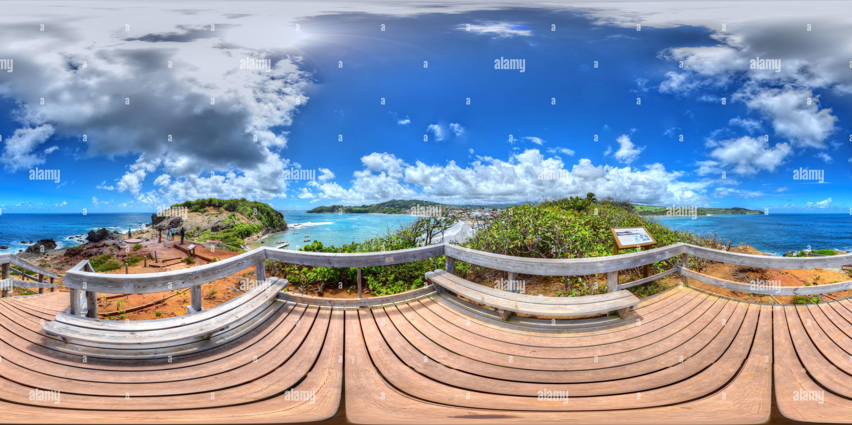 Vista 360 De Sainte Marie Isla Y Su Tombolo 2016 Martinica Caribe