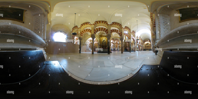 Vista panorámica en 360 grados de Mezquite Mezquita Córdoba españa