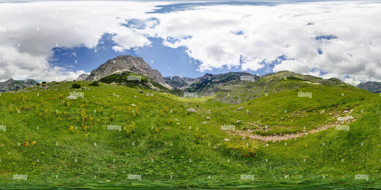 Vista panorámica en 360 grados de Los pastos de montaña