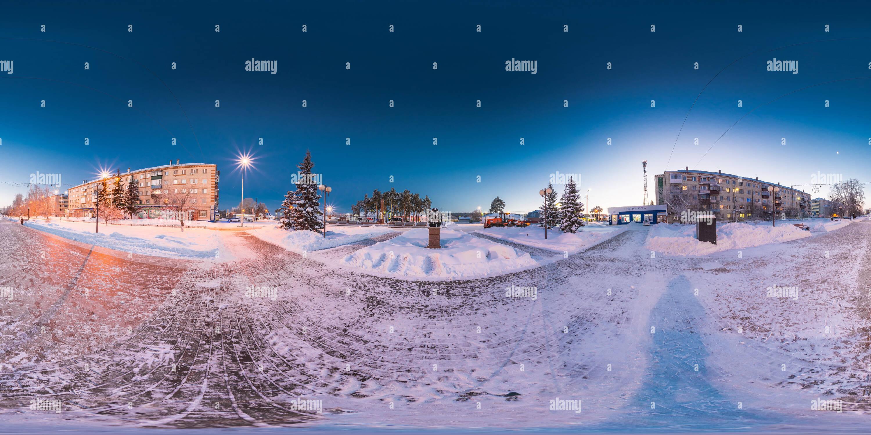 Vista panorámica en 360 grados de Año Nuevo 2019 en Zavodoukovsk [4]