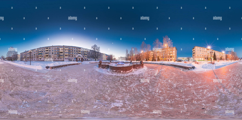 Vista panorámica en 360 grados de Año Nuevo 2019 en Zavodoukovsk [3]