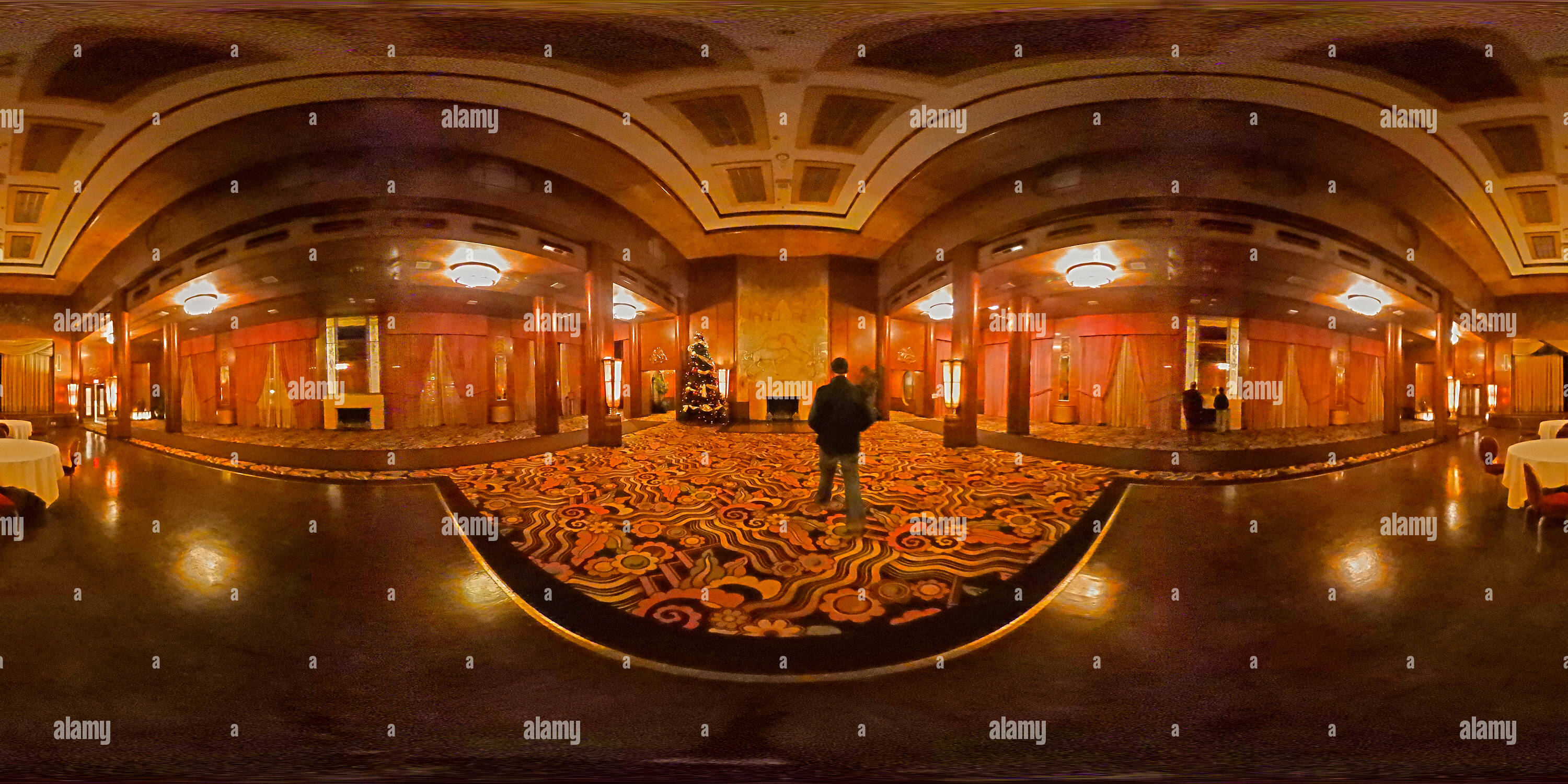Vista panorámica en 360 grados de Queen Mary Ballroom - Long Beach, California