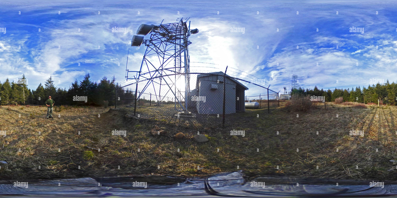 Vista panorámica en 360 grados de Monte Hebo - Estación de la Fuerza Aérea - Monte Hebo, Oregón