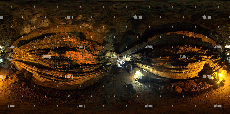 Vista panorámica en 360 grados de Túneles de lava - Galapagos