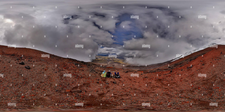 Vista panorámica en 360 grados de Volcán Cotopaxi - Encima del refugio vista 1