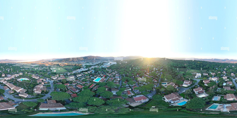 Vista panorámica en 360 grados de Gassin Longagne