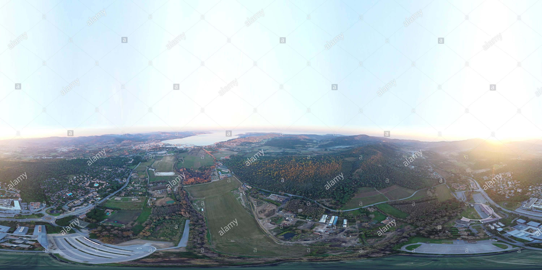 Vista panorámica en 360 grados de Gassin Bourian