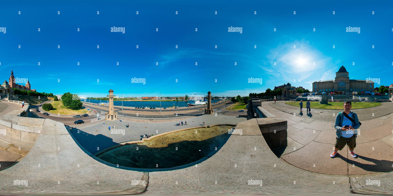 Vista panorámica en 360 grados de Wały Chrobrego Szczecin