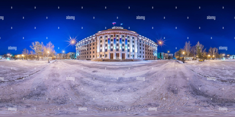 Vista panorámica en 360 grados de Tiumen Duma regional