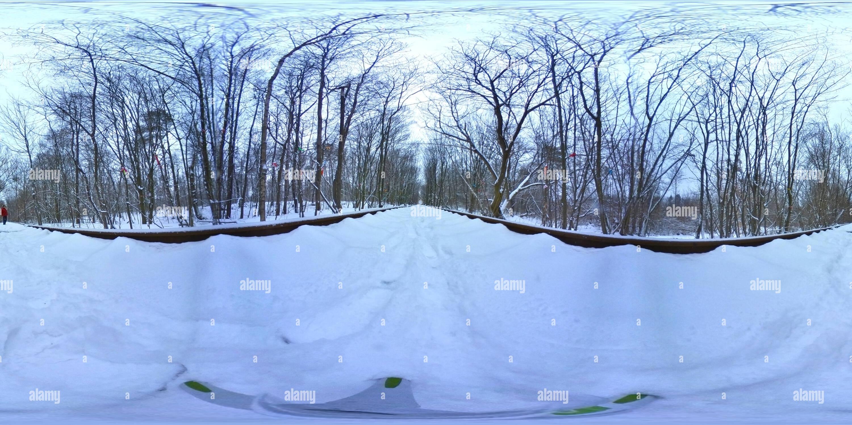 Vista panorámica en 360 grados de Tunel Kokhannya, Klevan, Rivne Oblast