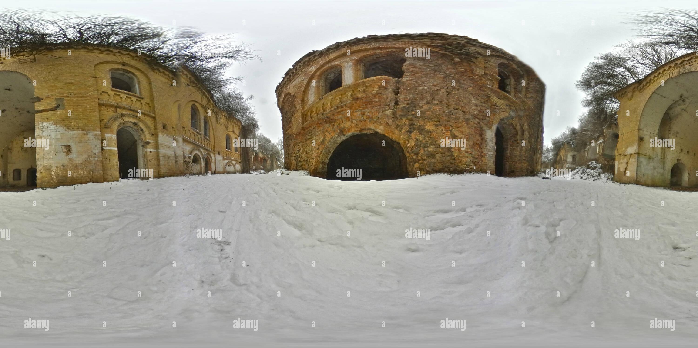 Vista panorámica en 360 grados de Fort Tarakanivskyy 2/3