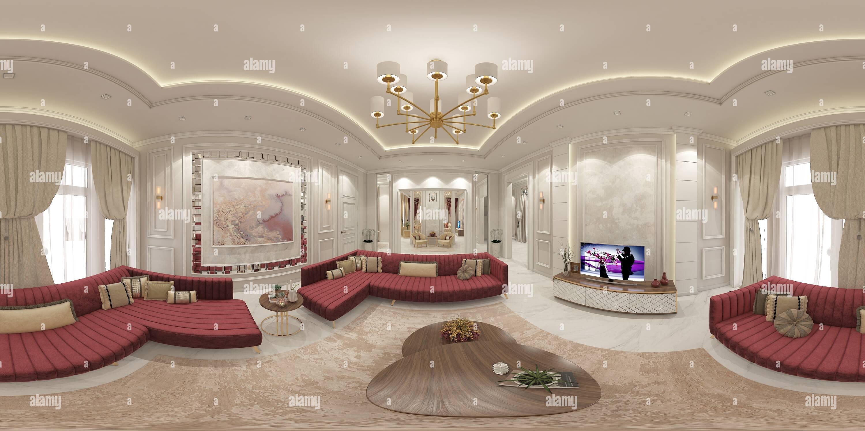 Vista panorámica en 360 grados de Diseño de Majlis 360