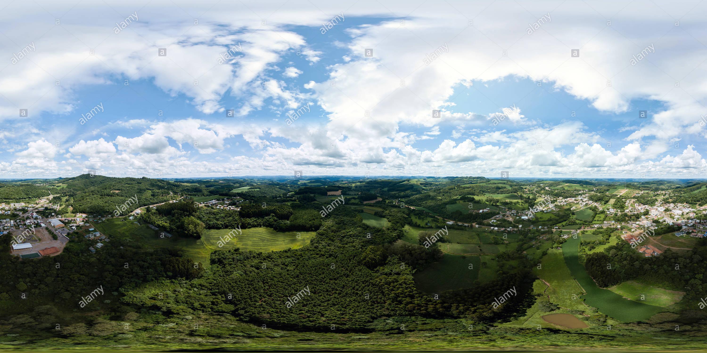 Vista panorámica en 360 grados de Dois Lajeados-RS.