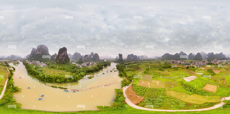 Vista panorámica en 360 grados de Río Yulong