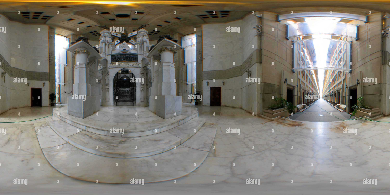 Vista panorámica en 360 grados de El Faro interior de Colón (Faro a Colón) en Santo Domingo
