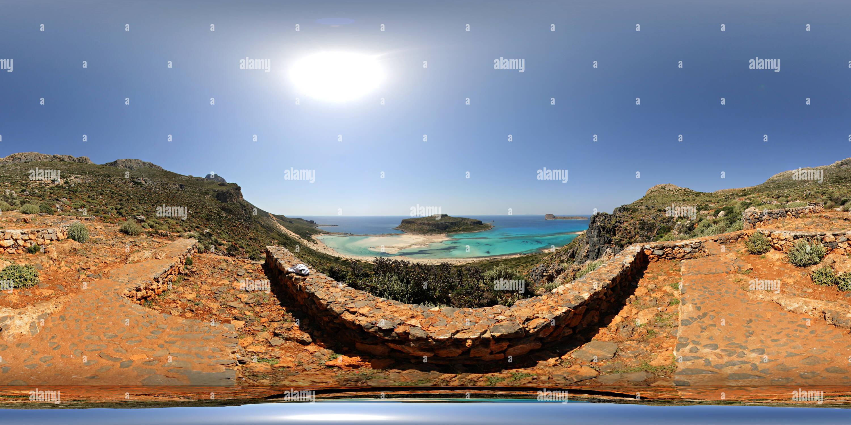 Balos aka laguna azul desde el camino del pie Imagen De Stock