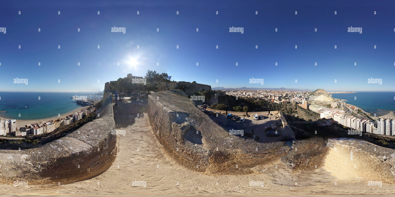 Vista desde el Castillo de Santa Bárbara Imagen De Stock