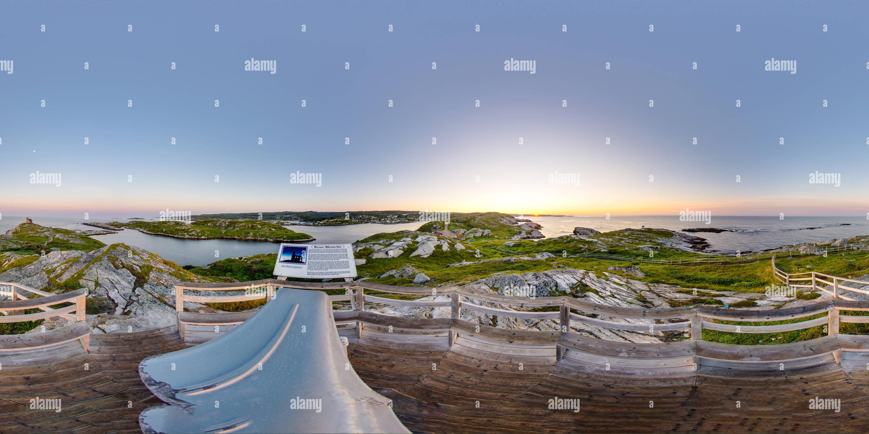 Rose Blanche, Terranova Faro 1 al amanecer. Imagen De Stock