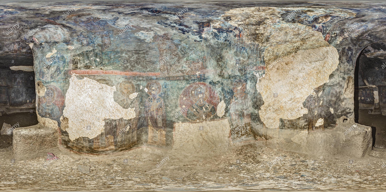 Iglesia rupestre Eustathios (digitalmente), Erdemli, Cappadocia, Turquía 2 Imagen De Stock