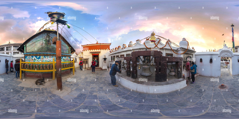 Nepal. Katmandú. Entrada a la estupa Boudhanath. Imagen De Stock