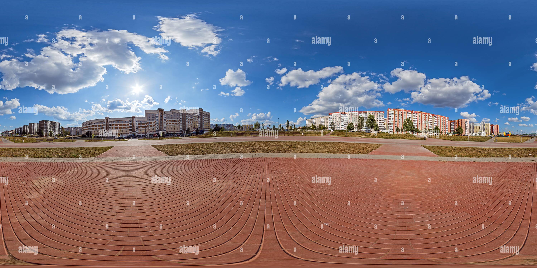 Mozyr (. Plaza cerca de la calle Malinina Imagen De Stock