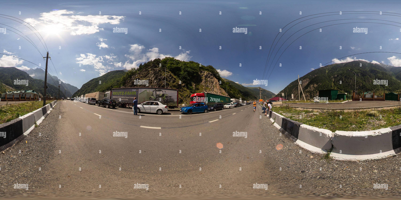 En la frontera entre Rusia y Georgia Imagen De Stock