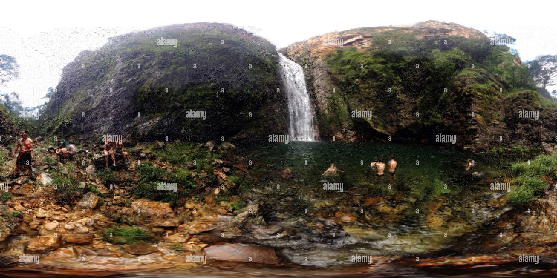 Cascadas secreta Imagen De Stock