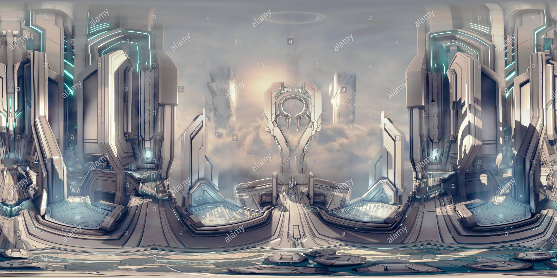 Halo 4 - Panorama Imagen De Stock