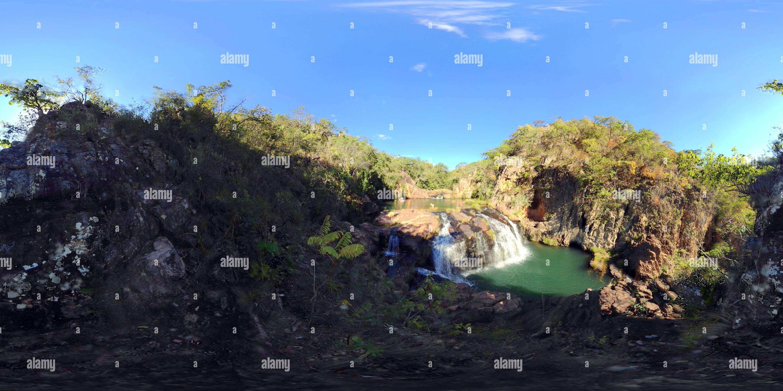 Monitos cascadas III Imagen De Stock