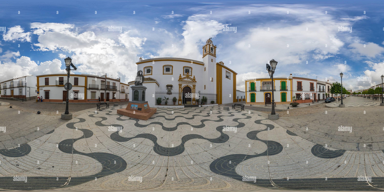 Iglesia de Ntra. Señora de la Estrella, Chucena Imagen De Stock