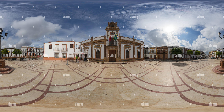 Plaza de Andalucía, Chucena Imagen De Stock