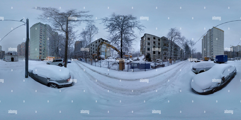 La demolición de los apartamentos en Medvedkovo 5 Imagen De Stock