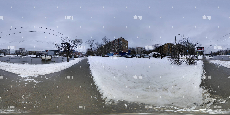Moscú, Marina Rosha, casas antes de la demolición en 2015 Imagen De Stock